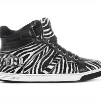 Michael Kors, special edition Fulton High-Top, sneaker, zebra print, April 2013