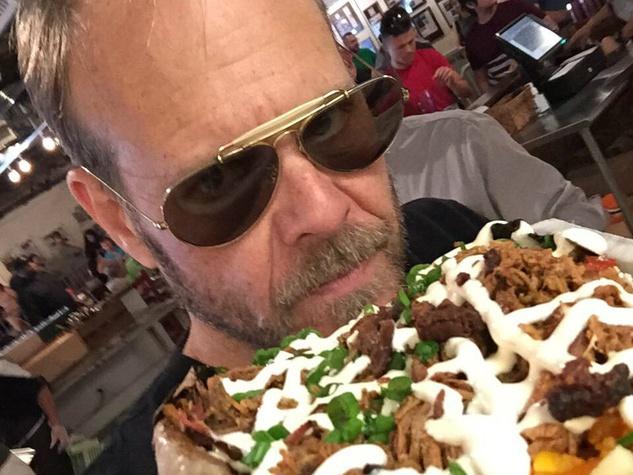 Alton Brown at Pecan Lodge BBQ in Dallas
