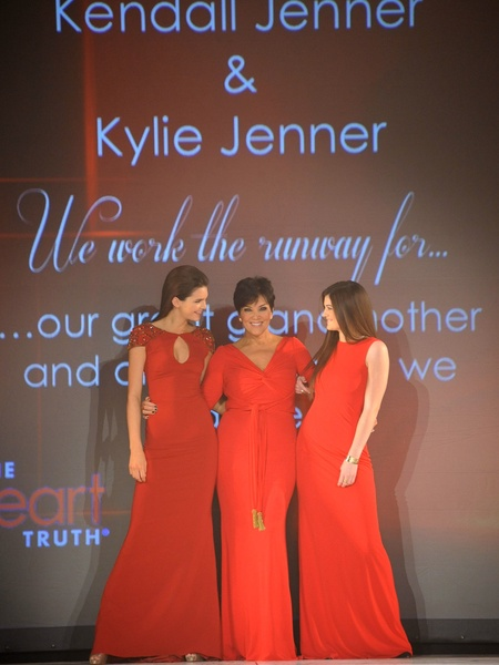10, The Heart Truth 2013 Fashion Show, Kendall Jenner, Kris Jenner and Kylie Jenner wearing Badgley Mischka