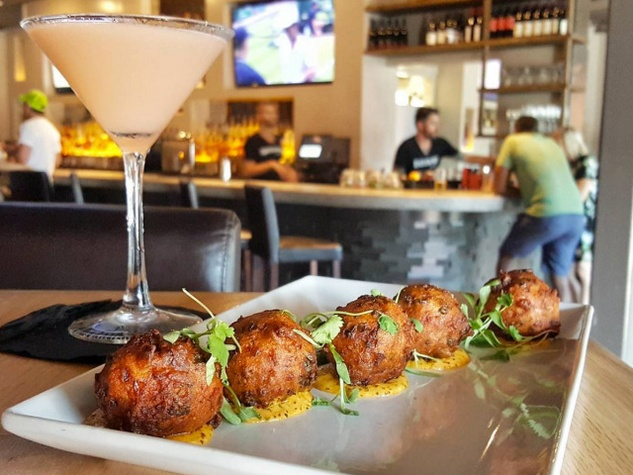Hush puppies at BaseCamp bar in Austin