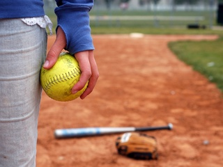 softball player on field