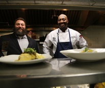 Eric Sander and Christopher Andres chef Lancaster Hotel