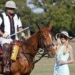 Elizabeth Foster and polo player, polo on the green