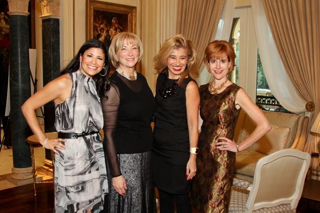 AVDA gala, October 2012, Kristy Junco Bradshaw, Sofia Adrogue, Lynn Kamin, Caroline Baker Hurley