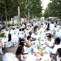 Houston, Diner en Blanc, June 2015, crowd shot