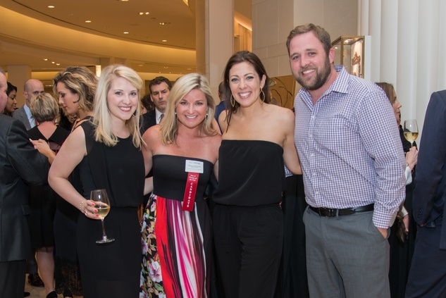 Megan Davies, from left, Shannon McPartland, Ashley McGee and Jay Seelye at the Leukemia & Lymphoma Society Man & Woman of the Year Kick-off April 2015