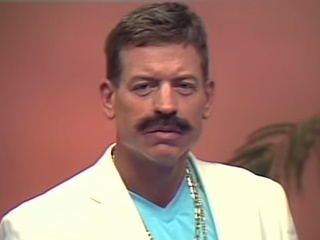Troy Aikman with a mustache