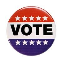 vote, vote button, vote pin