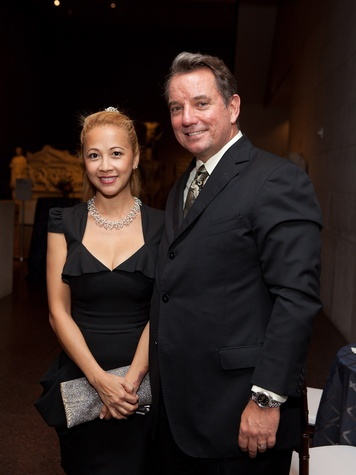 9 Demi and Ron Rand at the MFAH opening reception for American Adversaries October 2013
