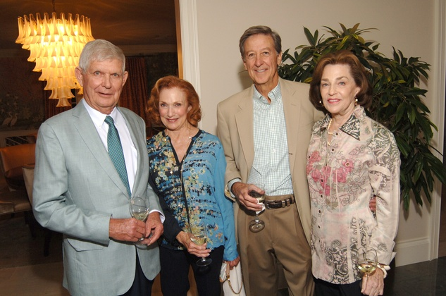 Tommy and Isla Reckling, from left, and John and Neva Dawson at the Katy Prairie Conservancy fundraiser May 2014