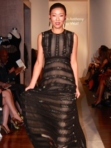10 model on runway fashion show at the Recipe for Success' Dress for Dinner