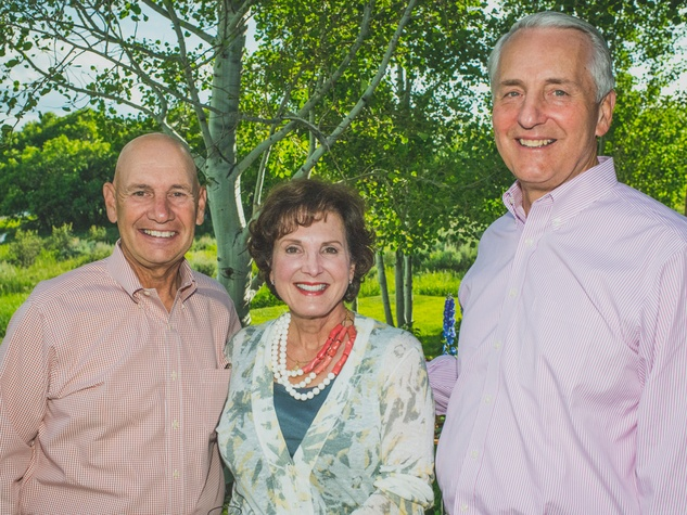 Frank and Gloria Kalman, from left, with Dr. Robert Ivany at UST in Colorado June 2014