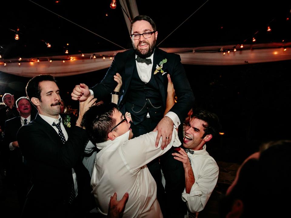 Wedding Maggie Bang and Austen Miller Fredericksburg Boot Ranch groom groomsmen