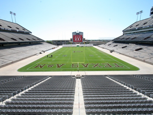 Kyle Field, Texas A&M, empty, stadium