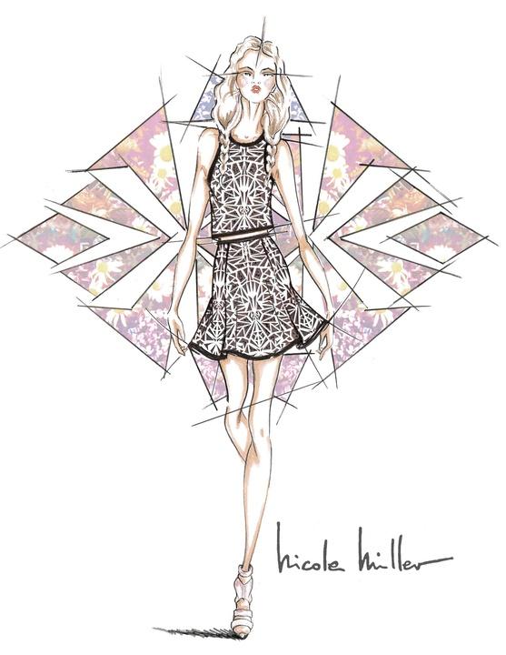 Nicole Miller inspiration sketch