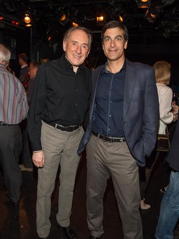 Leonard Rutan, left, and Dominic Celletti at George Lancaster's birthday bash October 2013