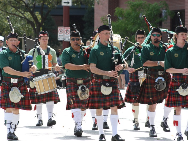 St. Patrick's Day Parade Houston, March 2013, bagpipes