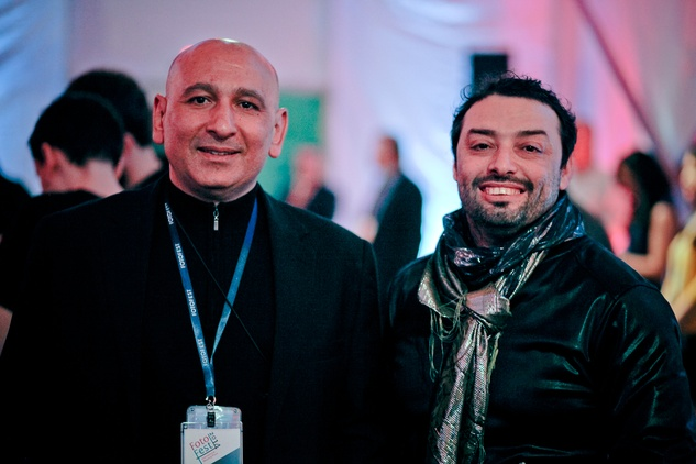 Khaled Hafez, left, and Shady El Noshokaty at the FotoFest opening party March 2014