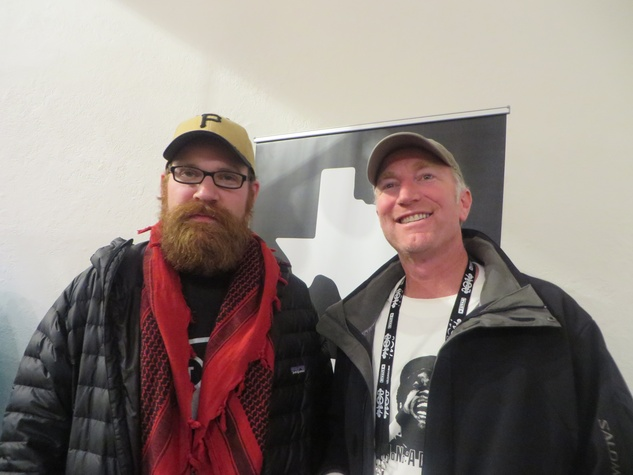 Sam Wainwright Douglas and David Hodges at Texas Film party at Sundance Film Festival January 2014