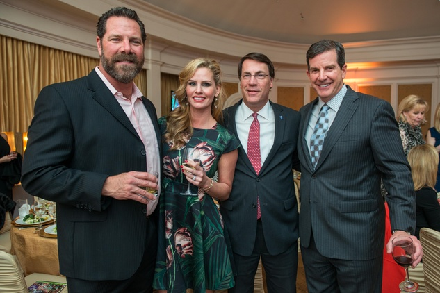 Mike and Misti Holley, left, Mark Montomery and Randolph Ewing at the Young Life dinner February 2015