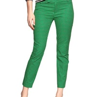 the gap Slim cropped print pants