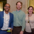 7 Brandon Walker, from left, with Garner and Kate Pagel at Preservation Houston's Pier & Beam #ThrowbackThursday Party November 2014