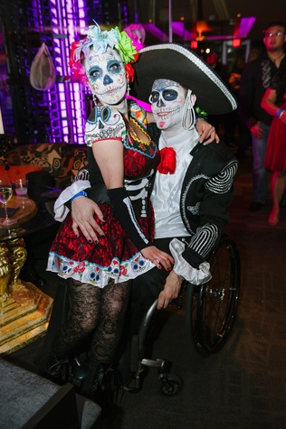 11 Yasmin Breton and Misael Breton at the CultureMap Halloween party at Mr. Peeples October 2013
