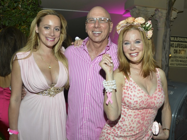 Erica Rose, Franklin Rose, Cindi Rose at Party in Pink at Hotel ZaZa, July 2013