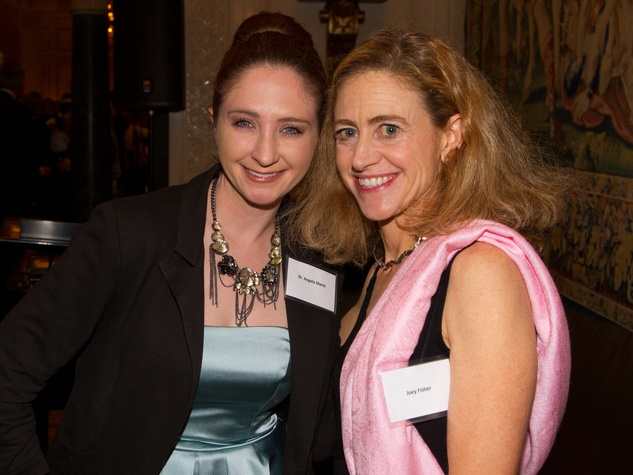 Angela Strum, left, and Joey Fisher at the AVDA event October 2013