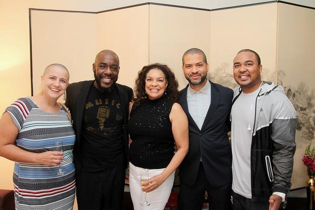 Jehn Hen, from left, Tierney Malone, Lizette Cobb, Jason Moran and Shae Cobb at the Da Camera Jason Moran launch party September 2014