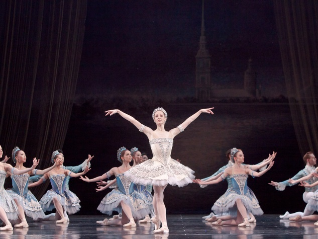 Sara Webb and Artists of the Houston Ballet in Balanchine's Ballet Imperial May 2013