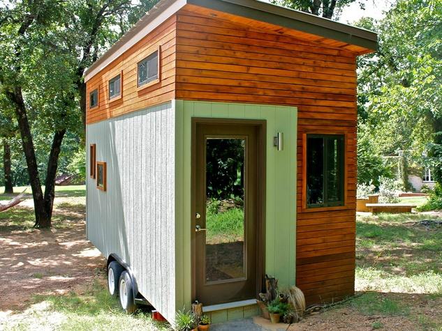 Joel Weber Tarzan tiny home debt-free house UT student 2015