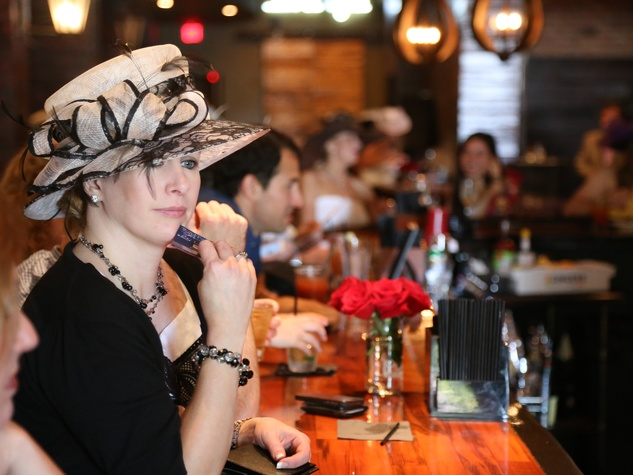 Austin Influential Group Derby Day at Ten Oak Derby Hat Angie Hanna