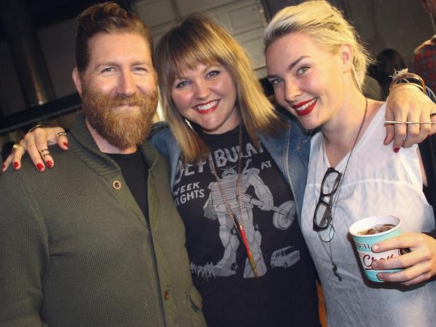 Moniker Guitars Texas BBQ Party December 2014 - Adam Garner - Danielle Thomas - Hannah Casparian