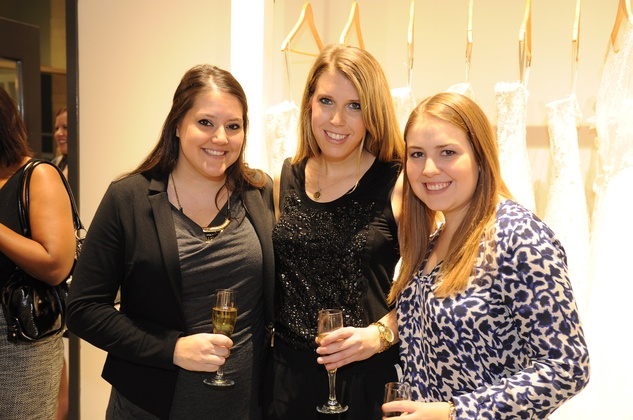 Lesley Gilhooly, from left, Sarah Gruber and Kathryn Brill at the What We Wear Where Mobile App party December 2013