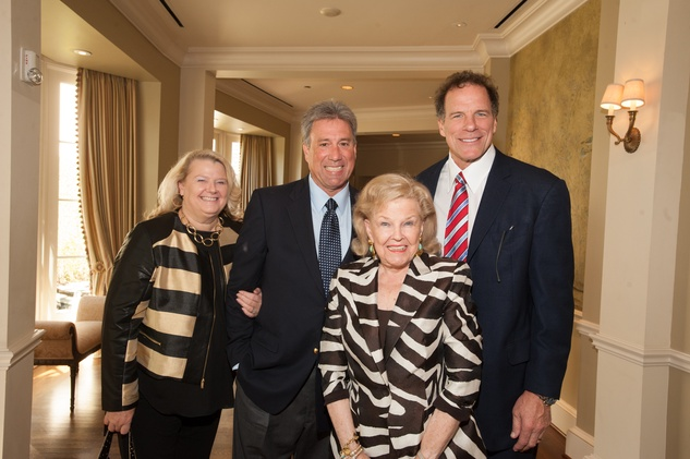 Liz and Kevin Quisenberry, from left, June Waggoner and Ray Childress at the Foundation for Teen Health luncheon October 2014