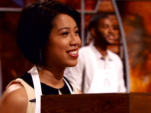 MasterChef, Christine Ha, smiling, Josh Marks