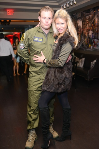 Miles Loveless and Larissa Pineda at Hotel ZaZa's Halloween Bash November 2014