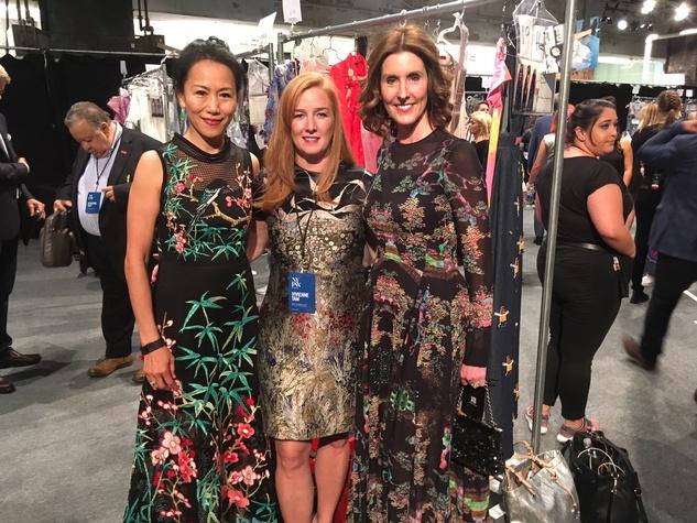 Y. Ping Sun, Allison Thacker, Phoebe Tudor at Vivienne Tam fashion show