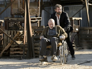 Patrick Stewart and Hugh Jackman in Logan