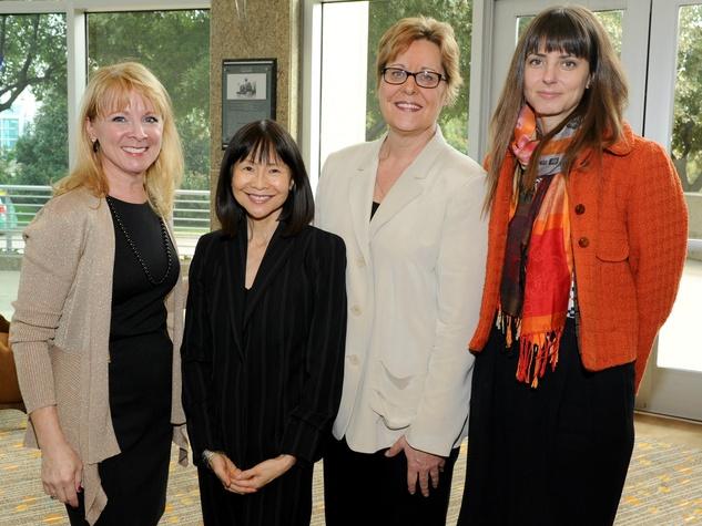 Michele Myers, Sylvia Komatsu, Deborah Johnson and Sarah Jane Semrad, national philanthropy day awards