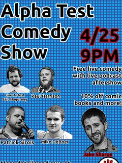 poster for Alpha Test Comedy VIII First Contact