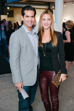 0130 Jeff and Sarah Bloom at Child Advocates Art Party November 2014