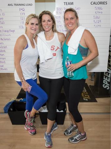 Amy Henley, Laura Singer, Tiffany Cuban, speedflexathon