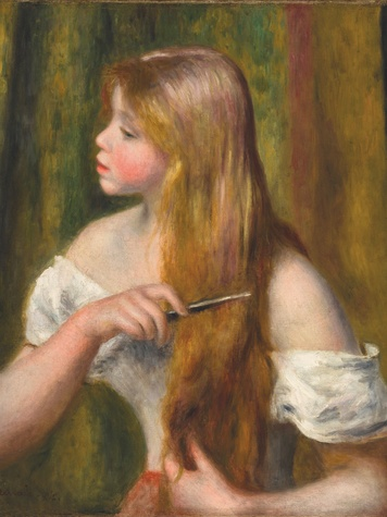 Renoir_Young Girl combing her hair