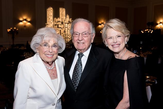 43 Sally and Bernard Fuchs, left, with Roslyn Fuchs Haikin at the Jewish Community Center Children's Scholarship Ball March 2015