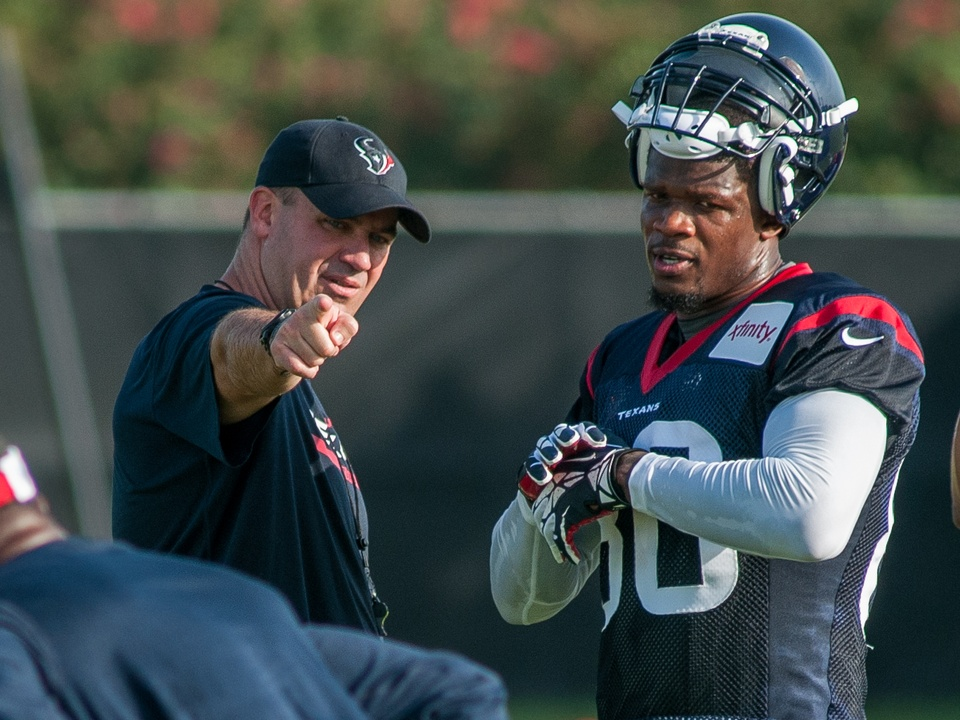 Bill O'Brien Andre Johnson Texans