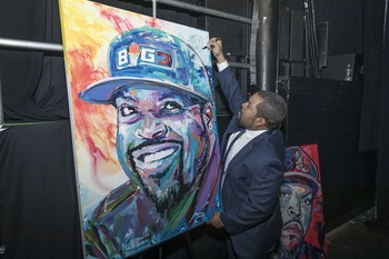 Who's-who of athletes toast Ice Cube and Dr. J at Dallas' Bomb Factory