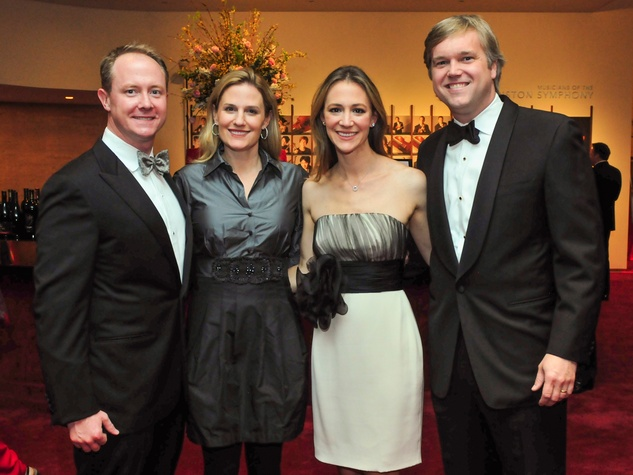 Billy and Christie McCartney, from left, and Maggie and Rob Vermillion at the Houston Symphony Wine Dinner March 2014