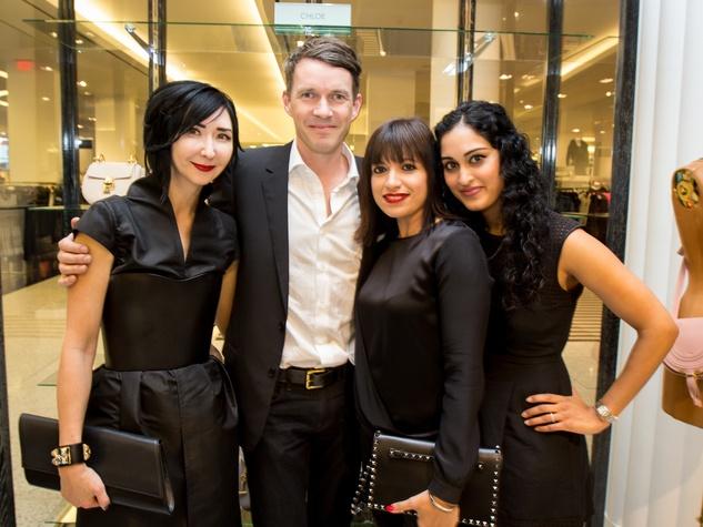 Houston Stylemakers 2015 Carrie Brandsberg-Dahl, Sverre Brandsberg-Dahl (her husband), Sandra Manela, Sri Yalamanchili